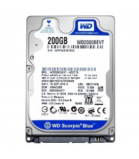 Жесткий диск 2.5 Western Digital Scorpio Blue 200GB 5400rpm 8MB SATA 3.0Gb/s (WD2000BEVT)